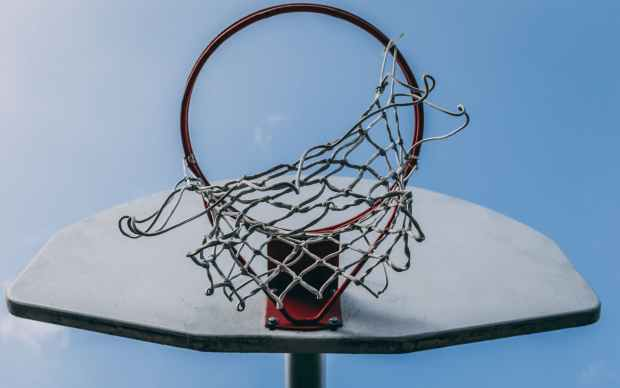 red basketball hoop