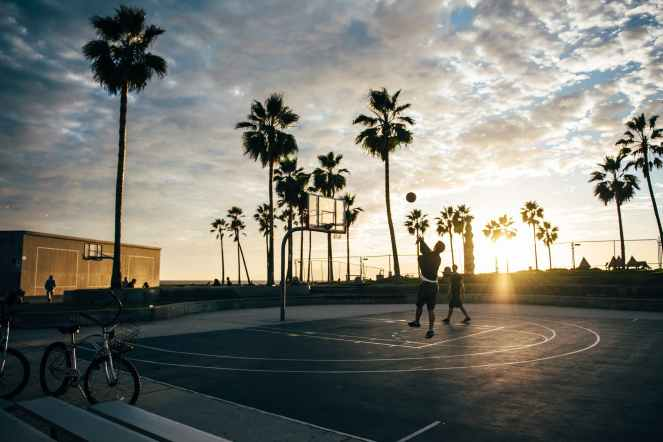 basketball basketball court beach bicycle